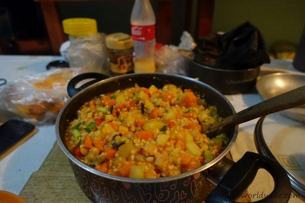 Frisch gekocht. Endlich wieder Gemüse auf dem Markt