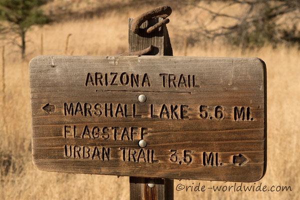 Der Arizona Trail ist hervorragend ausgeschildert