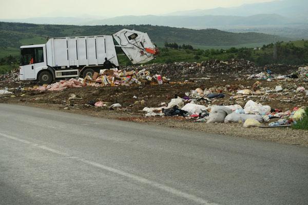 Müllhalde. Riecht man schon von weiten