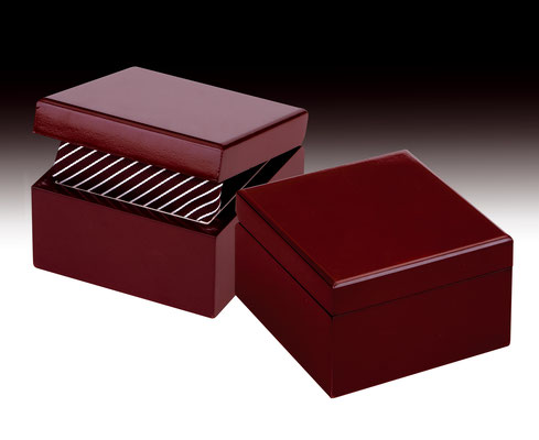 Caja madera en mahagouni regalo para corbatas