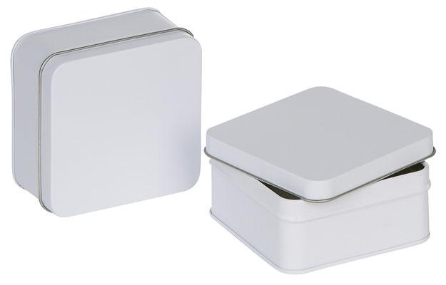 Caja regalo para corbatas en metal blanca