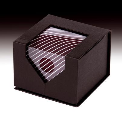 Caja regalo para corbatas con ventana grande