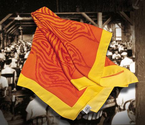 pañuelo en poliester estampado con molde a 3 colores