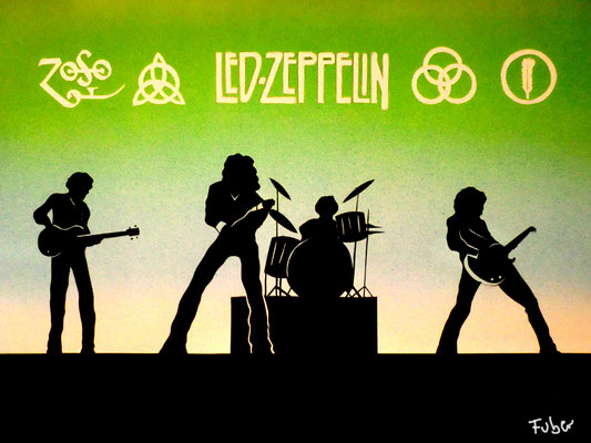 """Led Zeppelin"" _Airbrush auf Karton"