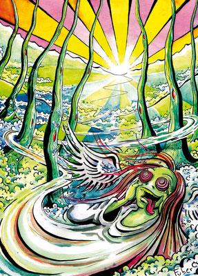 "Plakat für Festival ""Stoneegg"" _Tusche + Aquarell"