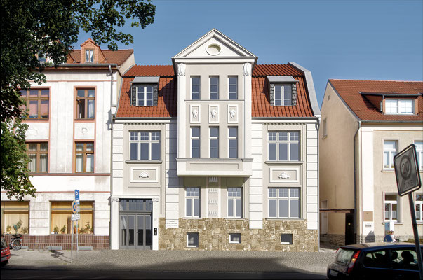Umbau u. Erweiterung Arztpraxis, Wohnungen eines denkmalgeschützen Hauses