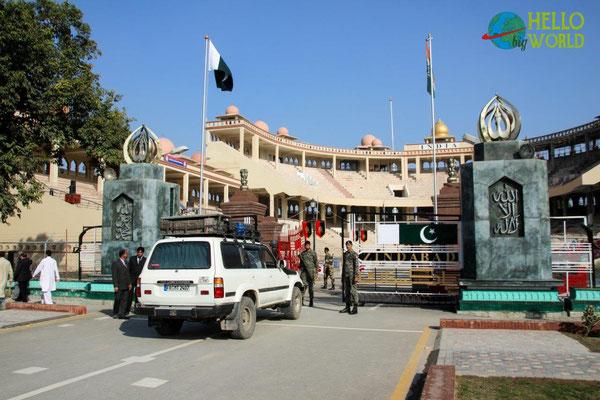 Wagha Border, der einzige Grenzübergang zwischen Pakistan und Indien