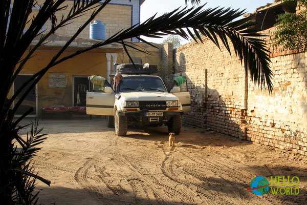 Nachtplatz in der Polizeistation in Sukkur im Süden Pakistans