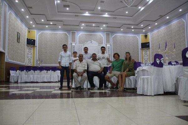 Im großen Hochzeitssaal von Big Babas Restaurant