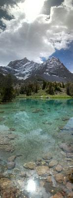 noch mehr kristallklares Wasser ... am Lake Alaudin