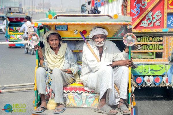 beliebtes Transportmittel in Indien - Rikshaw