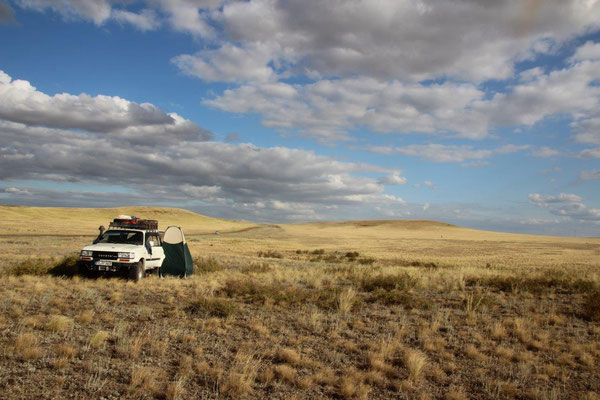Camp in der kasachischen Steppe