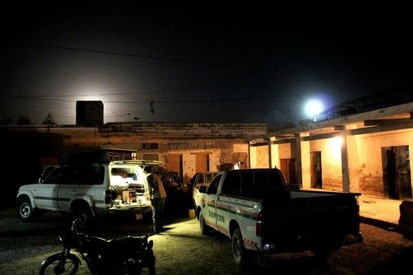 Erste Nacht in der Polizeistation an der Grenze