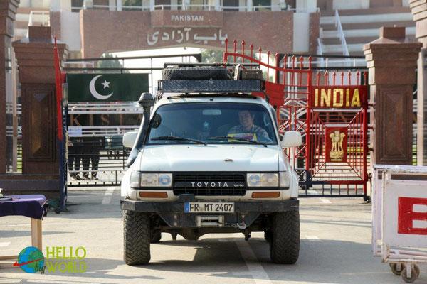 Grenzübergang von Pakistan nach Indien