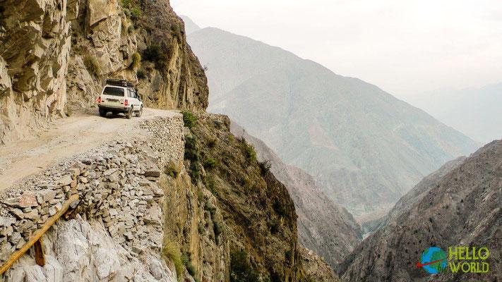 """""""Gefährlichste Straße der Welt"""" zum Nanga Parbat Base Camp, Nord-Pakistan"""