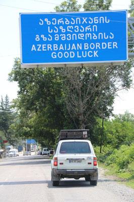 Viel Glück für die Grenze war angebracht. Bisher der zeitintensivste Grenzübergang...