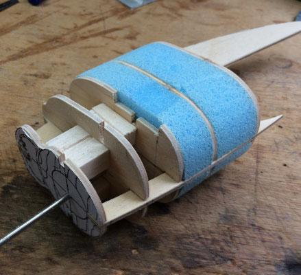 vorm opbouwen met behulp van spantjes