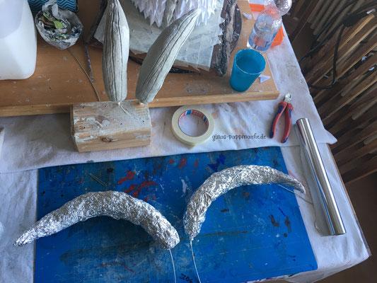ginas-pappmache.de, Viserion, papermache, art, Dragontrophy, dragon