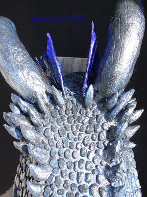 Viserion, papiermache, pappmache, art, Kunst, handmade, Drachenkopf, Drachentrophäe, Skulptur