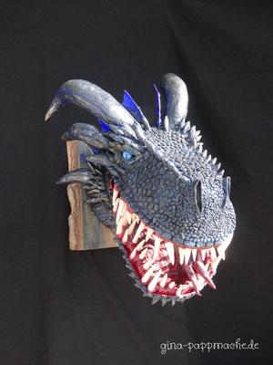 Viserion, ginas-pappmache.de, Dragon, Dragontrophy, art, papermache, sculpture, ooak,