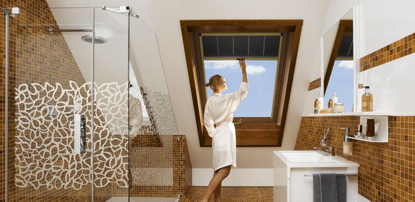 Dachfensterplissee von Roto