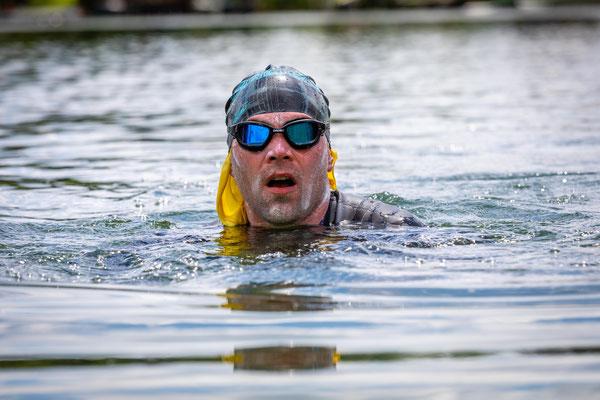 Triathlon-Weltrekord: Das Schwimmen war am schwersten / Foto Nils Thies