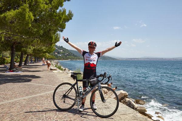 Bike-Weltrekord: Etappenziel Adria / Foto Jo Becker
