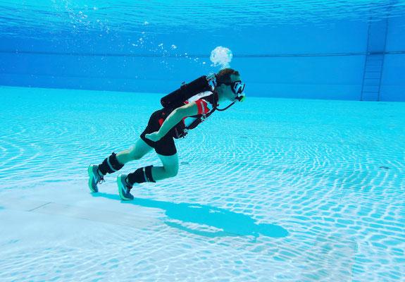 Weltrekord schnellster 100-Meter-Lauf unter Wasser / Foto Julius Jacoby
