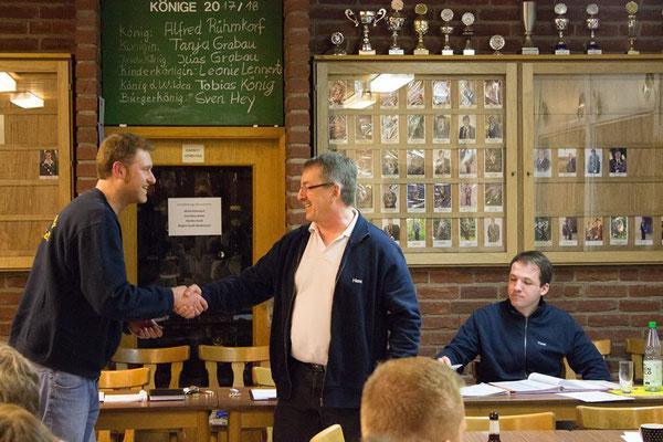 20 Jahre Mitgliedschaft: Hans Stollberger