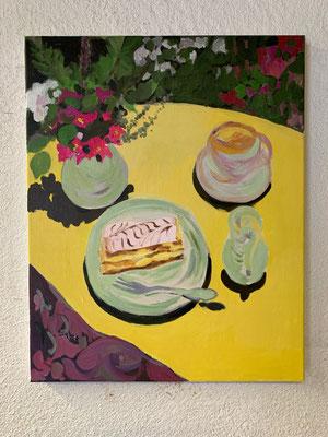 Crèmeschnitte, Acryl auf Leinwand, 40 x 50 cm, 2020