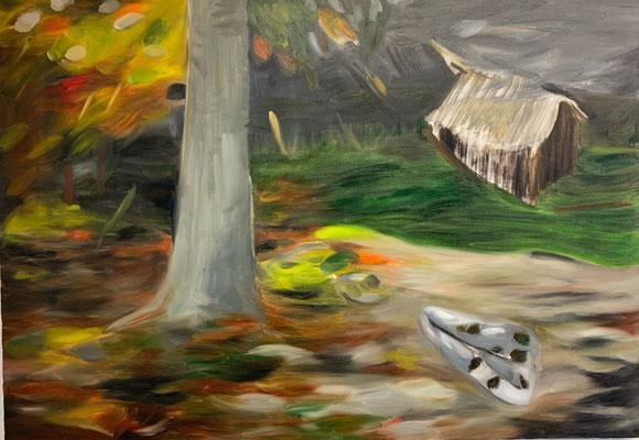 Herbststurm, Oel auf Leinwand, 70 x 100 cm, 2020