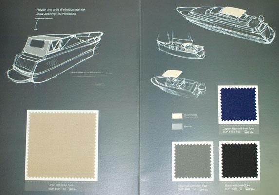 Sunbrella Suprême pour la fabrication de bimini et de sellerie dans le 06 Alpes-Maritimes et Monaco