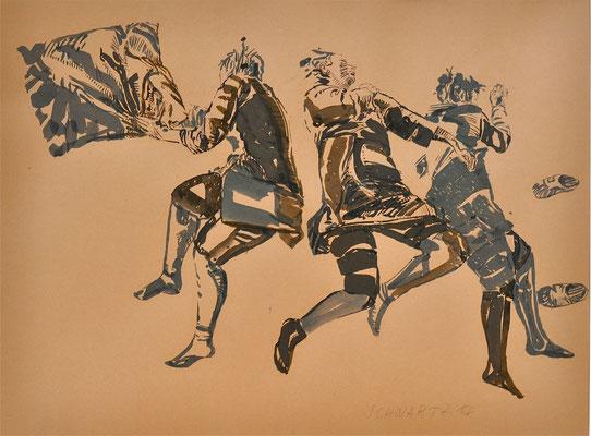 G. schlafend | 2014 | 40 x 52 cm  | Tusche auf Papier