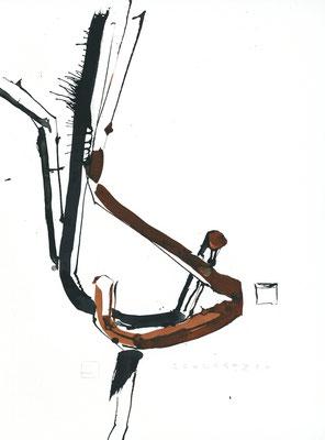 Chinoiserie | 2014 | 56 x 42 cm | Tusche auf Papier