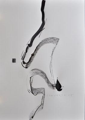 Chinoiserie | 2015 | 59 x 42 cm | Zeichenkohle und Tusche auf Papier