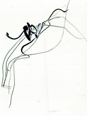 Studie nach einer Plastik I 2006 I 39 x 29 cm I Tusche, Bleistift auf Papier
