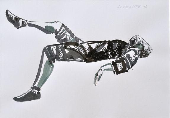 G. schlafend | 2014 | 34 x 48 cm  | Tusche auf Papier