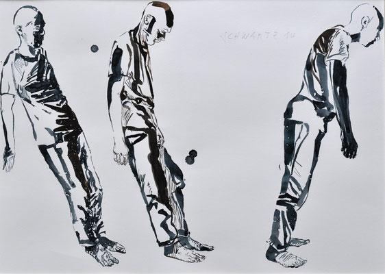 S. übermüdet | 2014 | 38 x 53 cm  | Tusche auf Papier