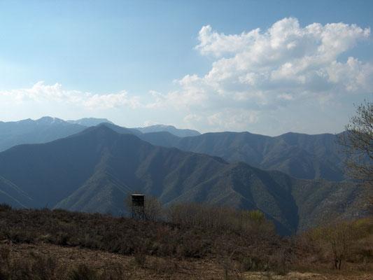 Vista dei Monti Gennaio, Cocomero e Corno alle Scale