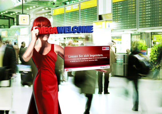 Flughafen-Aufsteller