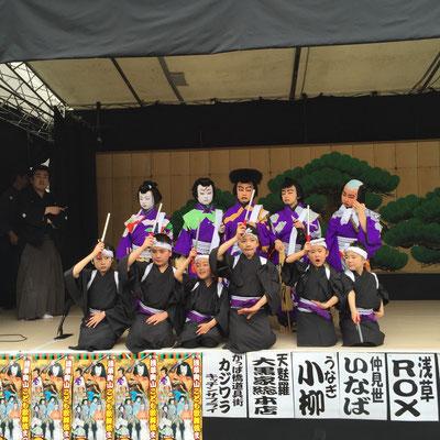 浅草神社特設舞台 浅草こども歌舞伎