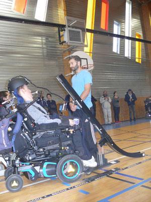 joueur BC avec rampe et assistant