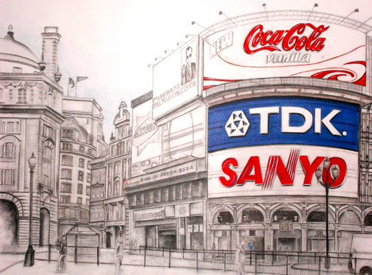 Piccadilly Circus 100 x 120 cm