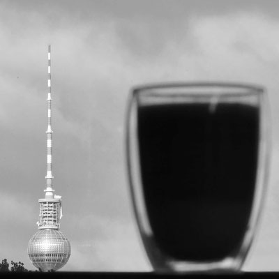 A coffee - nearly as tall as Berlin's TV tower