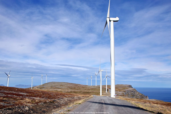 Havøygavlen Windpark: 16 giant wind wheels on a boreal mountain plateau