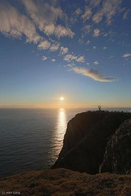 Mitternachtssonne am Nordkap: Die Sonne geht nicht unter