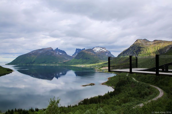 Outlook at Senja's official scenic route