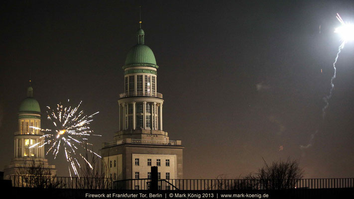 Firework at Frankfurter Tor. Berlin