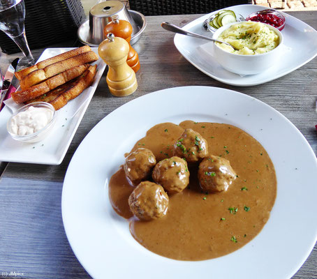 Swedish meatballs are recommended