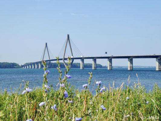 Farø-Brücken in Dänemark (Sicht vom Farø Rastplatz)